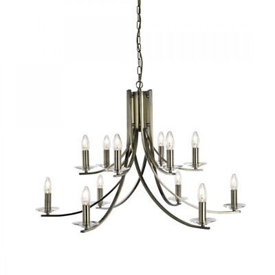 Ascona Classic 12 Light Chandelier In Antique Brass Finish 41612-12Ab
