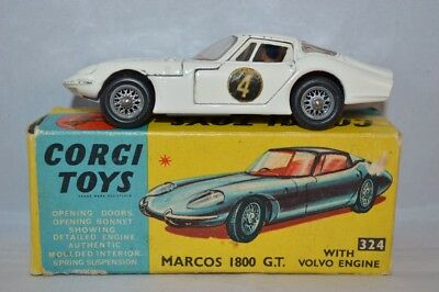 CORGI TOYS 324 Marcos 1800 G.T. with Volvo engine excellent plus in box