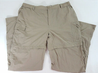 North Face Womens XL Convertible Packable Zip Off Shorts Beige Hiking Fishing