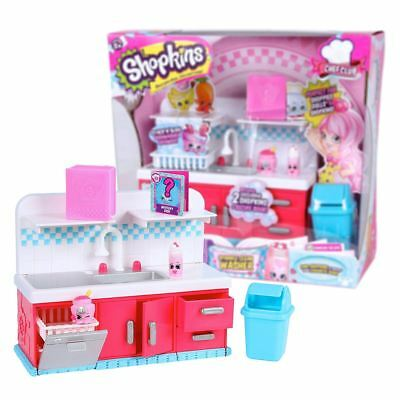 New Shopkins Chef Club Sparkle Clean Washer Playset & Exclusive Figures Official