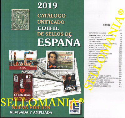 Catalogo Edifil 2019 Sellos De España . Catalog Stamps Of Spain  Ultima Edicion