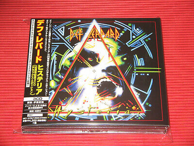 2018 Japan Cd Def Leppard Hysteria Remastered 3 Cd Digipak Deluxe Edition