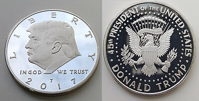 Donald Trump Silver Dollar US President White House In God we Trust Americana US