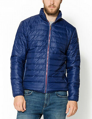 Timberland Mens Milford Quilted Thermal Insulated Jacket Lightweight Coat Navy