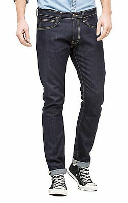 9c8c7f87 Lee Luke Slim Tapered Denim Jeans New Mens Stretch Regular Rise Urban Dark  Blue