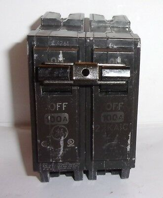 Ge General Electric  Thql21100 2 Pole 100 Amp Circuit Breaker Used