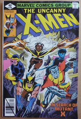 """X-Men #126, """"in Search Of Mutant X"""", Great Bronze Age, 1979, Vf+"""