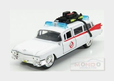 Cadillac Series-62 Ecto-1 Ghostbusters 1 1984 White Red JADA TOYS 1:32 JADA99748
