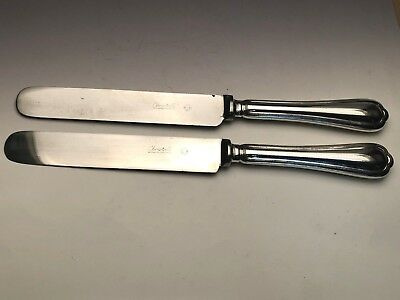 Spatours by Christofle Silverplate pair of Dinner Knives Blunt Blade 9 7/8""
