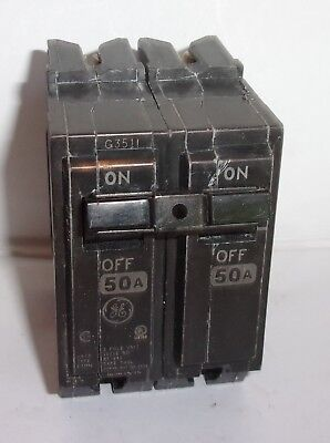 Ge General Electric  Thql2150 2 Pole 50 Amp Circuit Breaker Lightly  Used