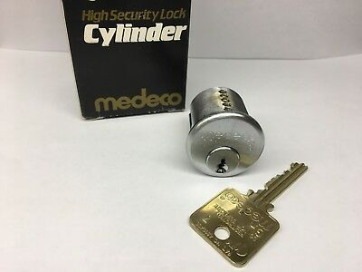 New Medeco Biaxial Mortise Cylinder Lock, and 1 Key