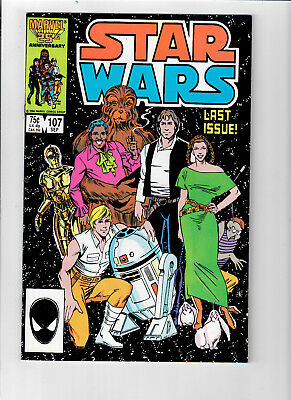 STAR WARS #107 (Marvel 1977) - Grade NM - Final issue of first series!