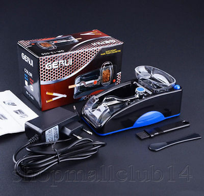 Electric Automatic Cigarette Injector Rolling Machine Tobacco Maker Roller Blue