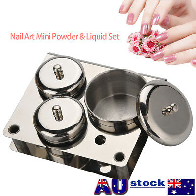 Cosmetic Tools Stainless Steel Dappen Dish Cup Nail Art Acrylic Liquid Powder