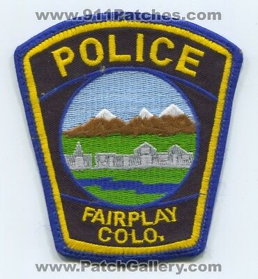 Fairplay Police Department Patch Colorado Co Dept. Colo. Sheriffs Office Used