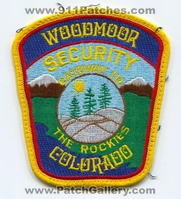 Woodmoor Security Department Patch Colorado Co Dept. Sheriffs Police Old Used