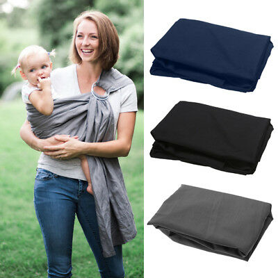 Adjustable Baby Carrier Solid Cotton Pool Shower Beach Wrap Double Ring Sling