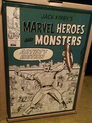 JACK KIRBY MARVEL HEROES & MONSTERS Artist's Edition NEW! IDW HARDCOVER! 22 X 15