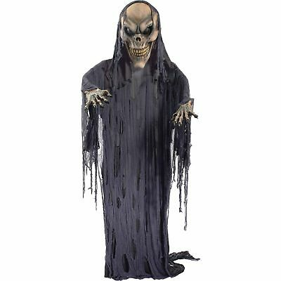 12' HANGING GIANT Scary Skeleton Reaper Halloween ...