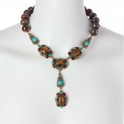 HEIDI DAUS Egyptian Queen of the Nile Carved Scarab-Design Beaded Gemstone NEW