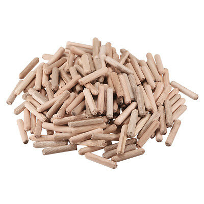6x30mm Wooden Dowel Wood Kiln Dried Fluted Beveled Hardwood 200pcs