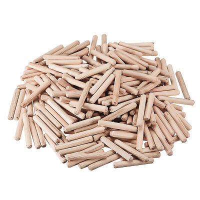 6x40mm Wooden Dowel Wood Kiln Dried Fluted Beveled Hardwood 200pcs