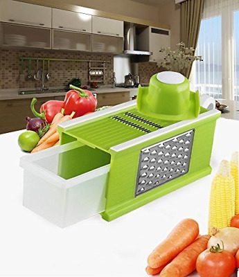 Mandoline Slicer Kitchen Tools Set with Blades for Fruit and Cheese Cutter Green