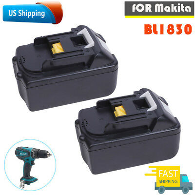 2 Pack NEW 18V 3.0AH Lithium-Ion Battery For MAKITA BL1830 BL1815 LXT 400 BL1840