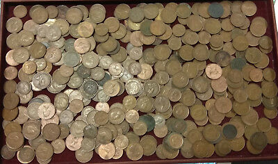 AUSTRALIAN HALF PENNY AND PENNY BULK LOT 2.8kg