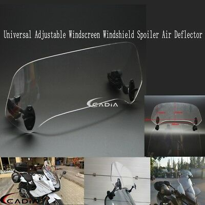 Adjustable Clear Windscreen Spoiler Windshield Wind Air Deflector For Honda KTM