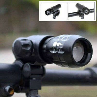 3-Mode Tactical LED Flashlight Torch Lamp & Bicycle Bike Head Light Mount Holder