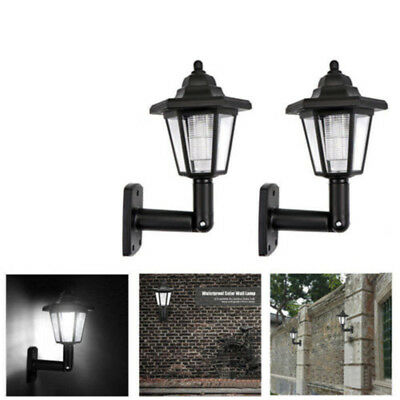 1 X Home Garden Solar Powered LED Wall Light Motion Sensor Security Lamp Outside