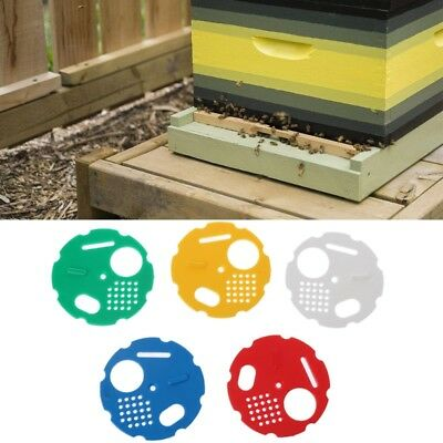 5pcs Beekeepers Bee Hive Door Entrance Disc Rotating Reducer Bee Nest Gate Box