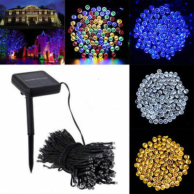 Solar Powered 100/200 LED String Fairy Tree Light Outdoor Wedding Xmas Party ***