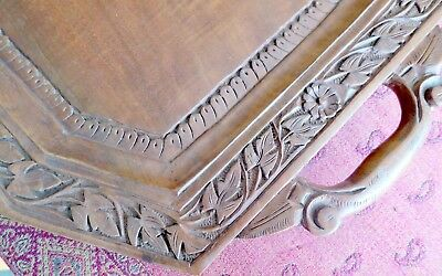 Large Wooden Carved Tray