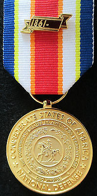 Confederate National Defense Medal Non-Civil War Confederate States (CSA) Medal