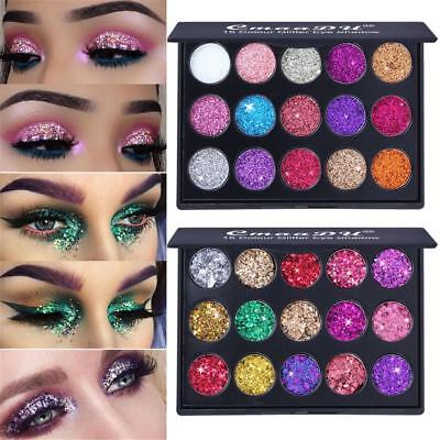 15 Colors Diamond Glitter Eye Shadow Sequins MakeUp Cosmetic Pressed Palette