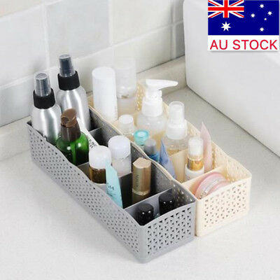 AU 5 Cells Plastic Organizer Storage Tie Bra Socks Drawer Cosmetic Divider patt