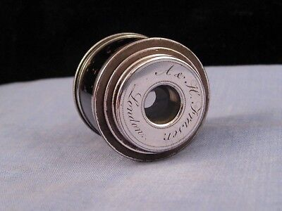 Antique Miniature Georgian Pocket Telescope Spyglass Monocular Fraser Silver Pl