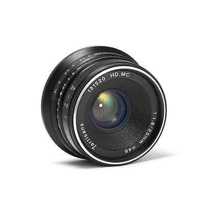 7artisans 25mm/f1.8 Manual Fixed Lens for Panasonic/Olympus M4/3 Mount (Black)