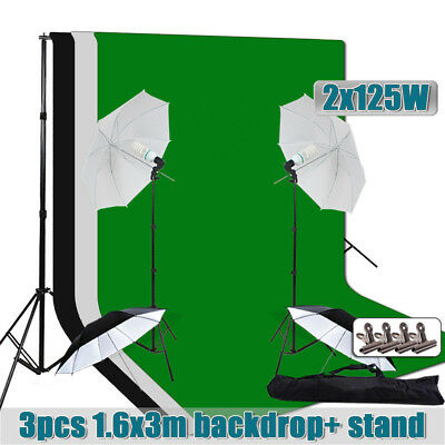 Photo Professional Umbrella Light Backdrop Stand Photography Continuous Lighting