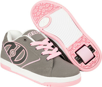 Heelys Propel 2.0 Pink and Grey Skate Shoes Girls Women Choose Your Size