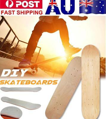 Maple Blank Double Concave Skateboards Natural Skate Deck Board 8inch 8-Layer