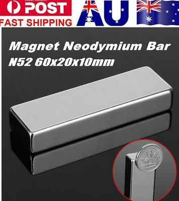 60x20x10mm N52 Strong Large Powerful Rare Earth Neodymium Block Magnets