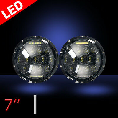 7Inch LED Headlights Projector High/Lo Beam DRL Upgrade For Hummer H3T H3 H1 H2