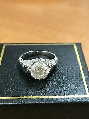 3.50Ct Edwardian Antique/Style Genuine Natural Diamond Engagement Ring F VS1