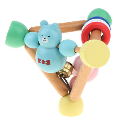 Wooden Baby Rattle Handbell Montessori Educational Grasping Music Sound Toy