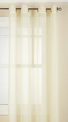 "Lorraine Home Fashions Reverie Window Curtain Panel, 60 x 63"", Eggshell"