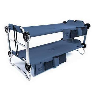 Disc-O-Bed Youth Kid-O-Bunk Camping Cot with Organizers, Navy Blue (Used)