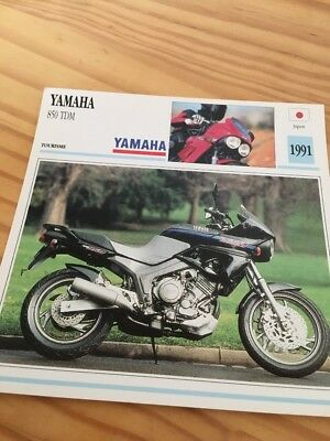Yamaha 850 TDM 1991 TDM850 850TDM Carte moto Collection Atlas Japon